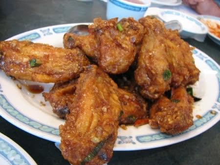 Dry Fried Chicken Wings
