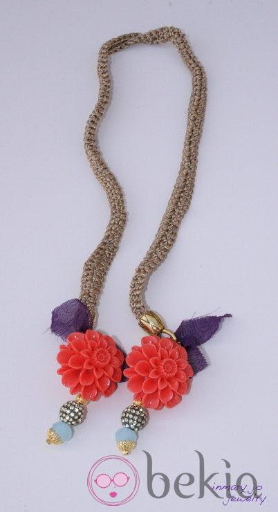 Collar trenzado de la colección de joyas de Vanesa Romero