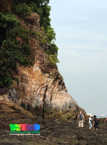 Natural cliffs of Sentosa