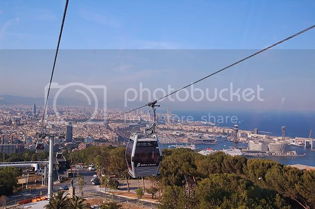 Onboard the Barcelona Teleferic or Cablecar of Montjuic: A Privileged Panoramic View [enlarge]