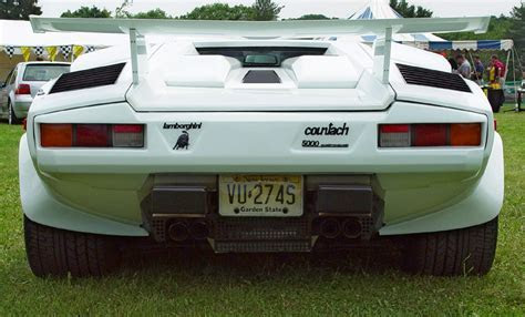 Lamborghini Countach 5000 Quattrovalvole   White   Rear