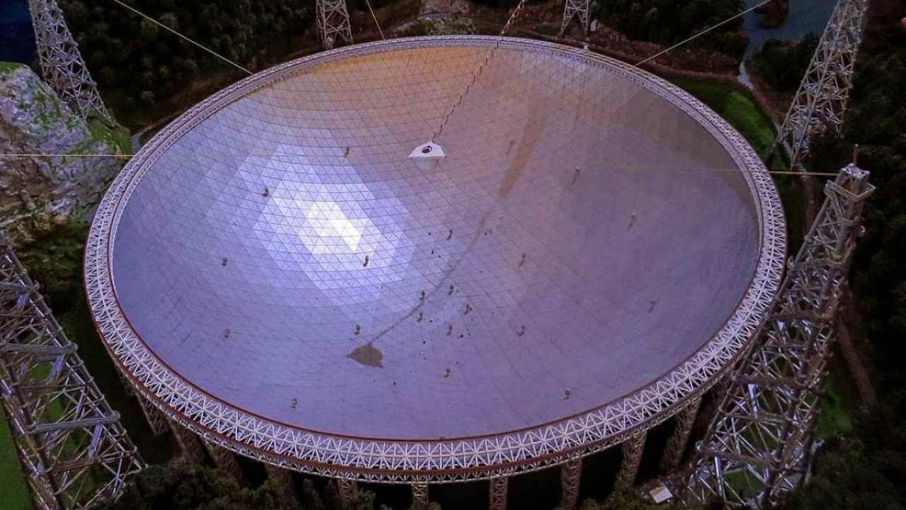 The Five-hundred-meter Aperture Spherical Telescope in China. Image credit: Wikipedia