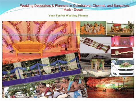 Wedding Decorators and Planners in Coimbatore, Chennai