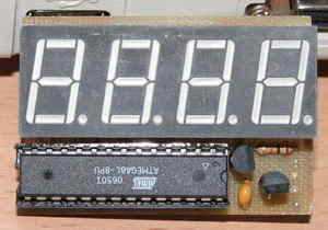 atmega8l_display tốc độ chỉ số tốc độ mét