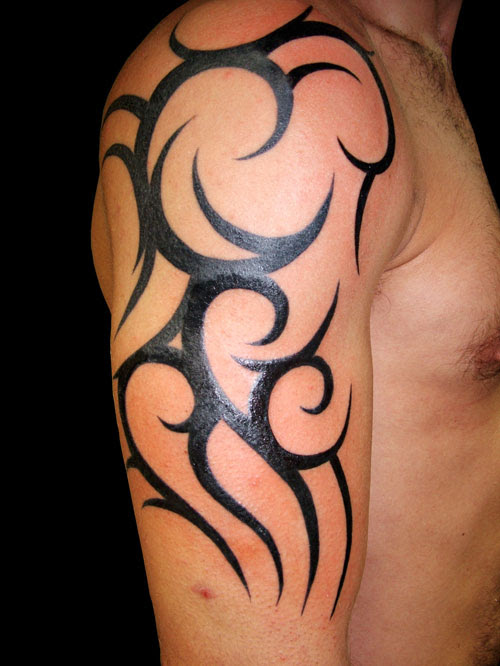 Minimalist Upper Tribal Tattoo Design Tattoomagz