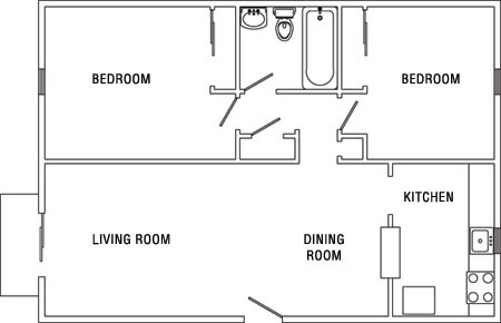 Inspirational Two Bedroom Apartments Floor Plans - home design
