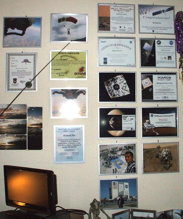 A close-up of my Air & Space Wall of Fame.