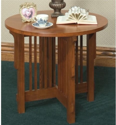 Furniture Empire Arts and Crafts Mission End Table - traditional