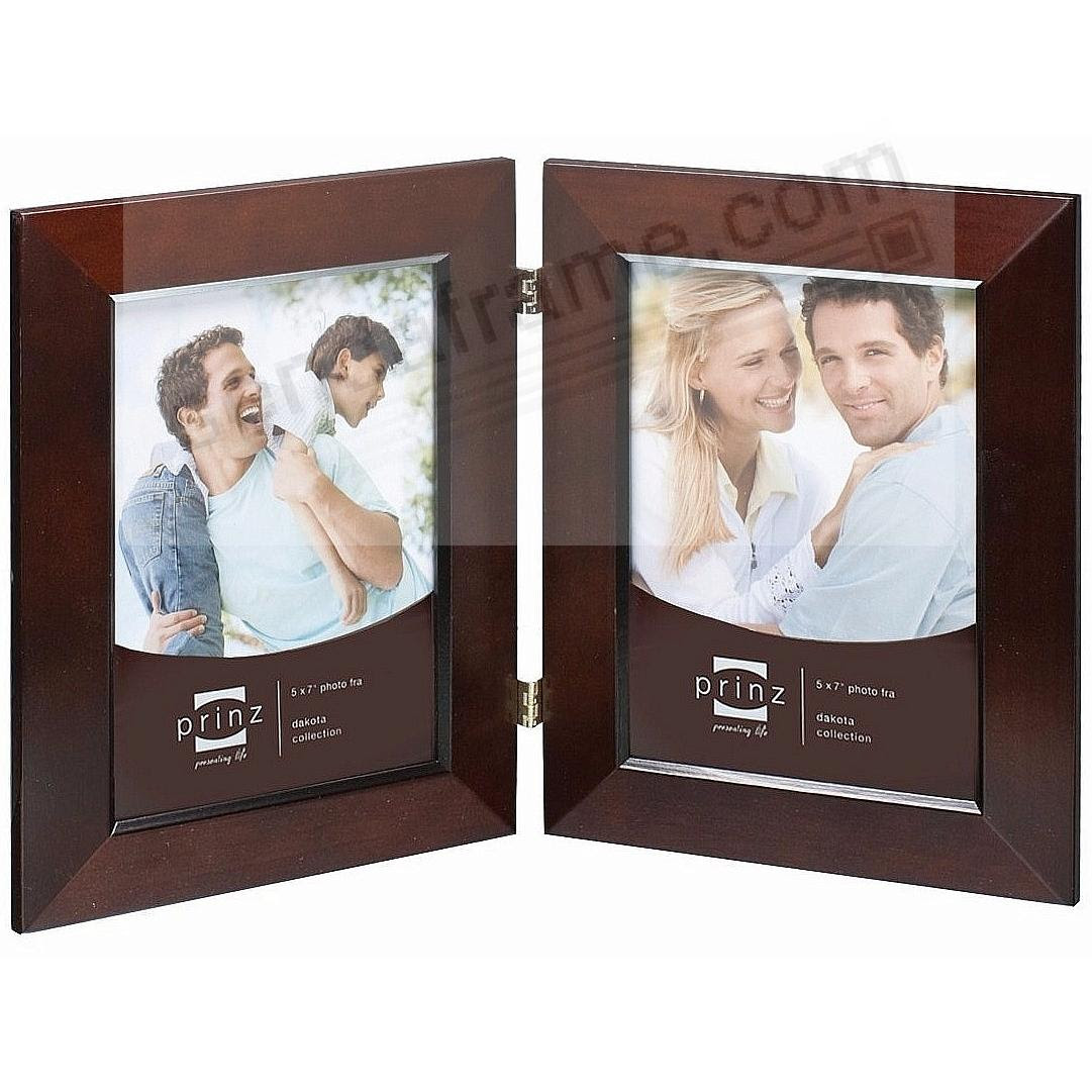 Dakota Dark Walnut Beveled Hinged 5x7 Double By Prinz Picture