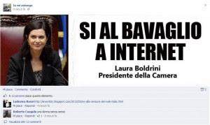 Risultati immagini per boldrini censura il web