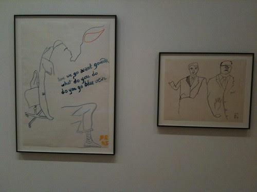 David Robilliard drawings, conceptual art show, MoMa