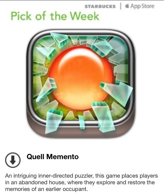 Starbucks iTunes Pick of the Week - Quell Memento
