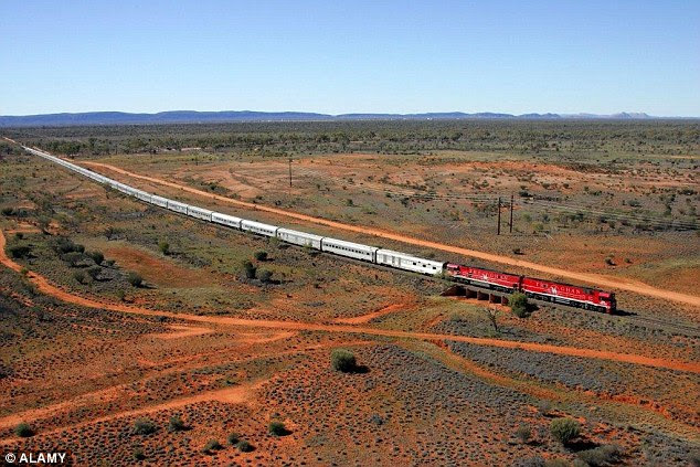 Legendary  Australian icon, The Ghan embarked on a record-breaking rail journey at the weekend (file photo)