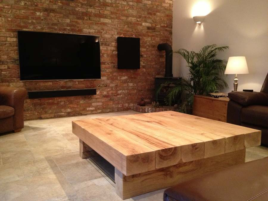 Large Square Coffee Table | TarzanTables.co.uk
