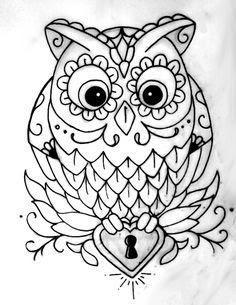 Sketsa Batik Burung Hantu
