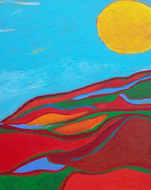 Contemporary Abstract Art Painting - Heat