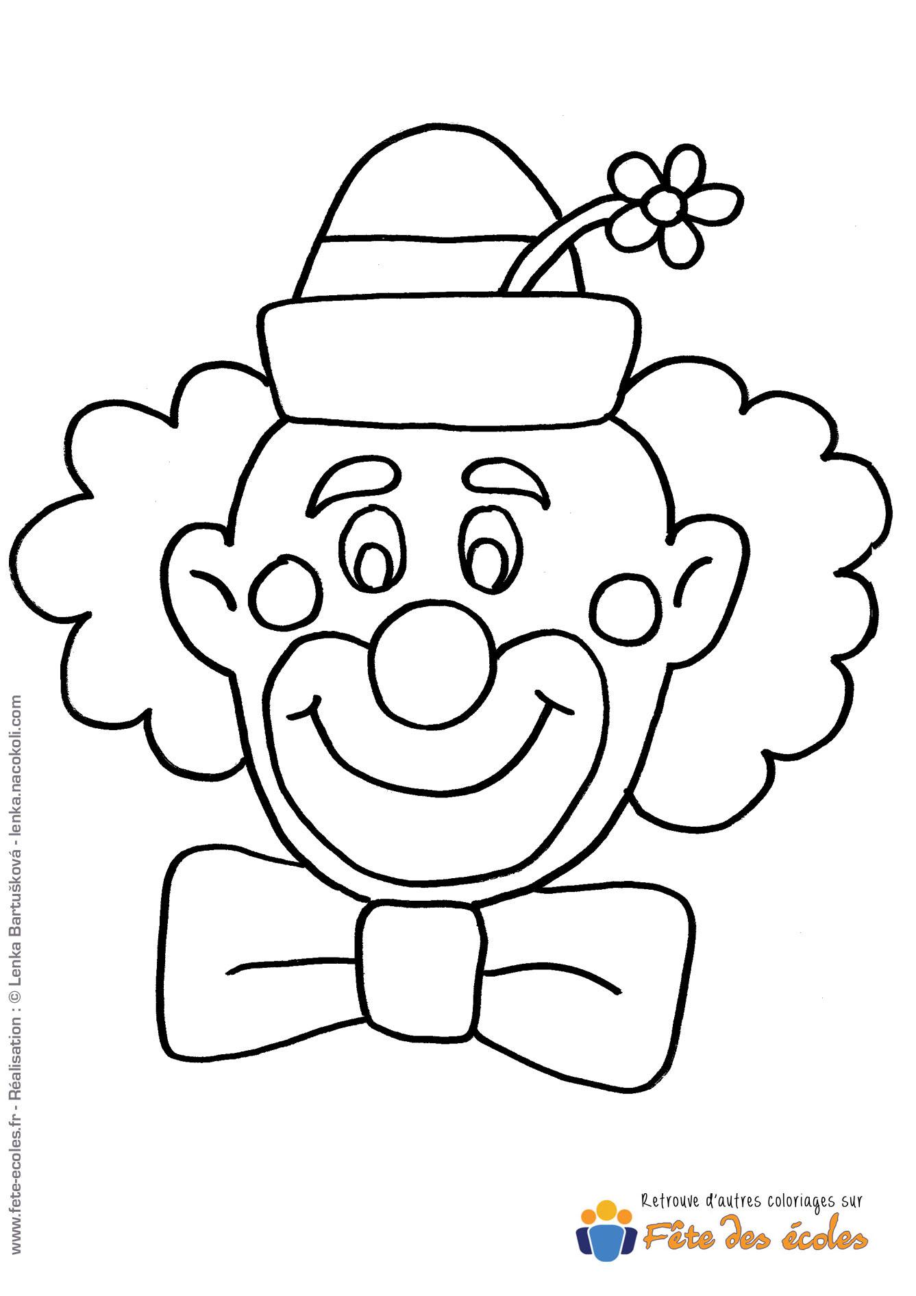 Coloriage Clown Drole.Coloriage Tete De Clown Coloriage