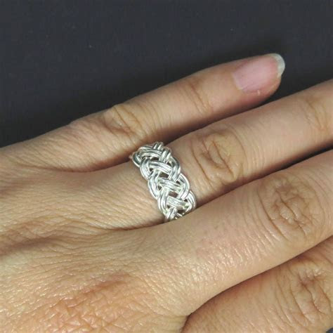 Celtic Knot Ring   Celtic Wedding Band   Braid Ring