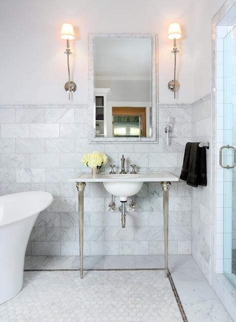 Parisian Inspired Master Bathroom Design - Traditional ...