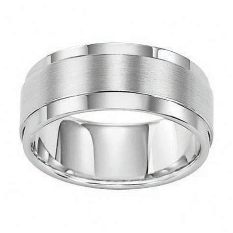 Triton Men's 9.0mm Comfort Fit White Tungsten Wedding Band