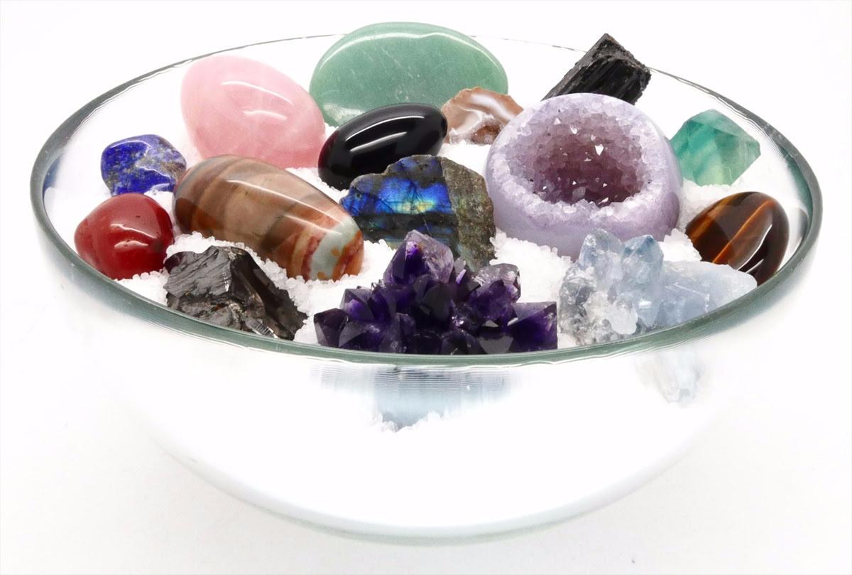 Resultado de imagen de cuenco de cristales minerales para limpieza de chacras