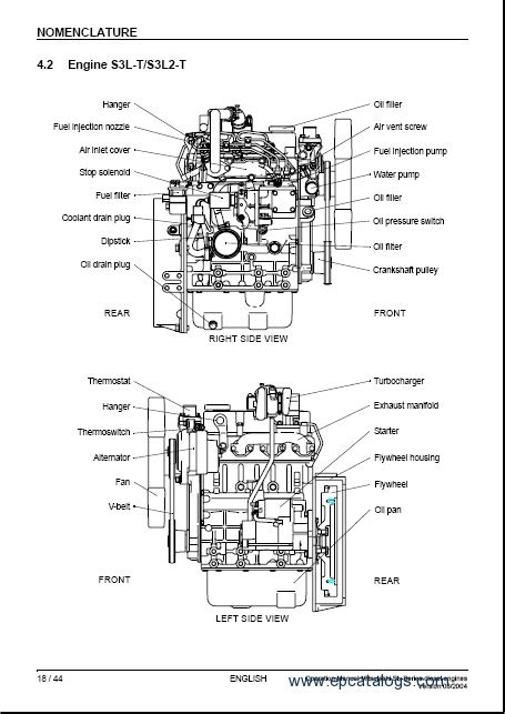 Mitsubishi Diesel Engines SL-series, repair manual, Heavy