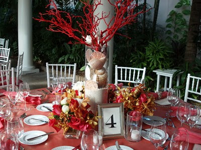 potential wedding centerpieces (pic) thoughts? suggestions? :  wedding coral center pieces Coral Centerpiece