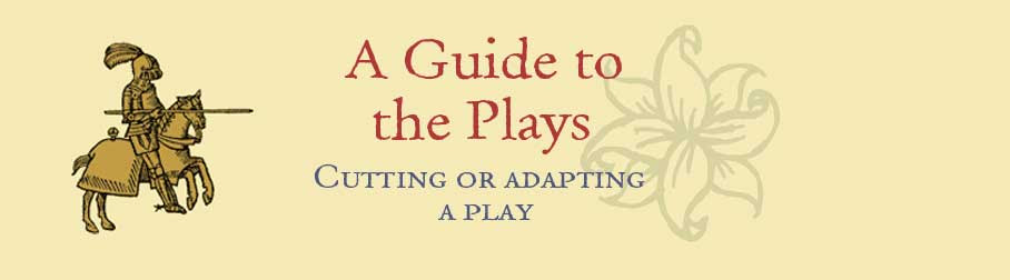 Cutting Or Adapting A Play
