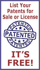 List your patents for sale or license for free