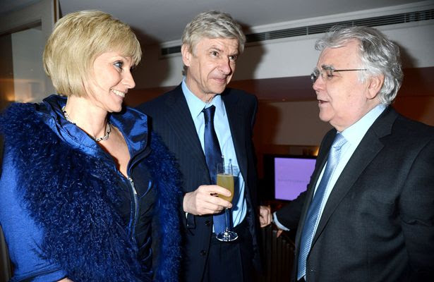 Arsene Wenger,his wife Annie Brosterhous and Bill Kenwright