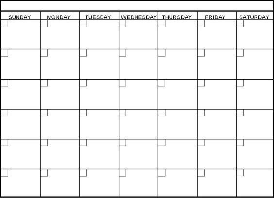 blank 30 day calendar pages | Blank Calendar | Pinterest | 30 day ...