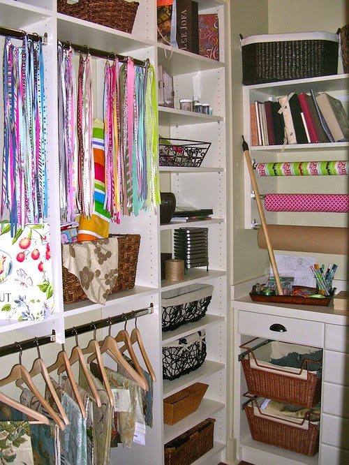 Closet Offices / Becky Harris eclectic home office