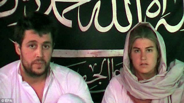 In OK health: Swiss couple Olivier David Och and Daniela Widmer were either released or escaped from the Pakistani Taliban after eight months in captivity