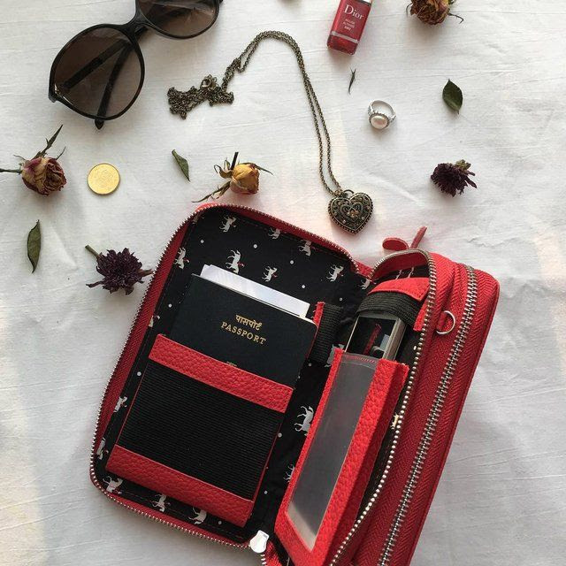 Ciao Bella Double Wallet Clutch by Mary and Marie