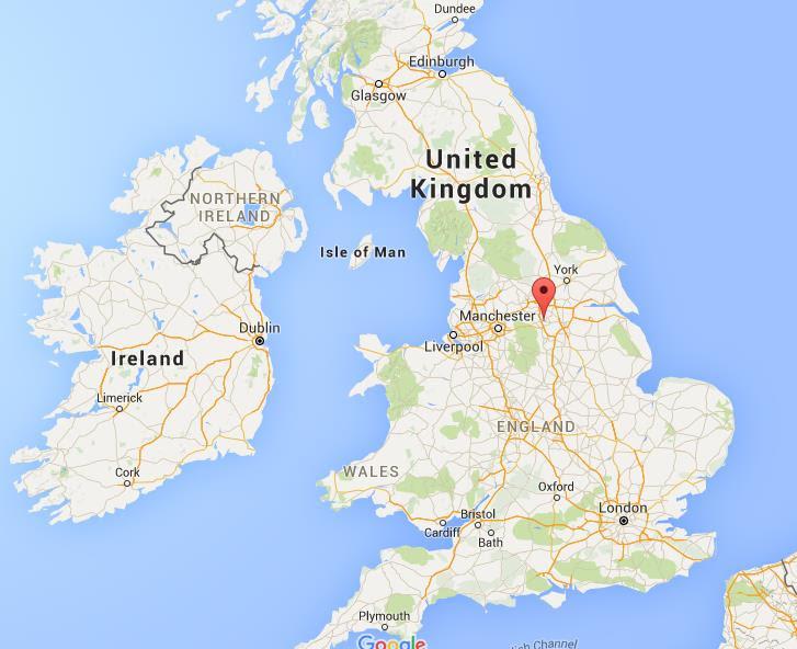 Where is Barnsley on map England