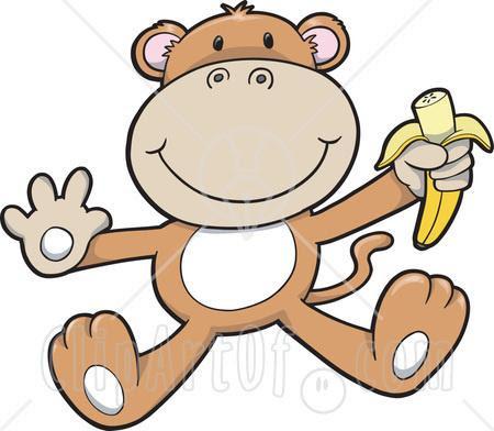 monkey clip art painting