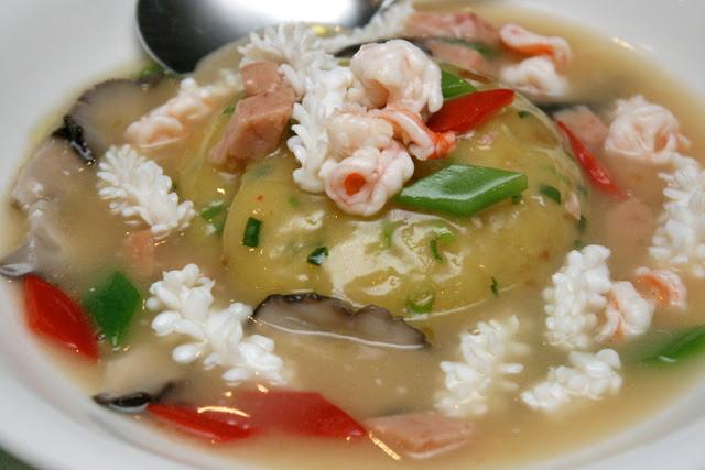 Seafood mashed potatoes