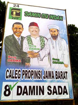 obama osama Campaign Posters From Indonesia picture