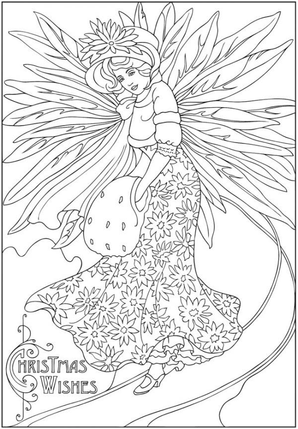 Freebie: Winter Fairy Image - Stamping