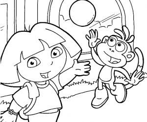 【Les plus recherchés】 Coloriage Dora Et Babouche