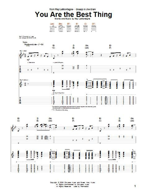 You Are The Best Thing   Sheet Music Direct