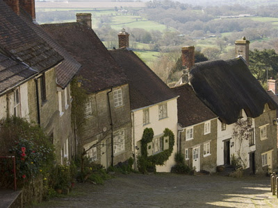Gold Hill, Shaftesbury, Wiltshire, England
