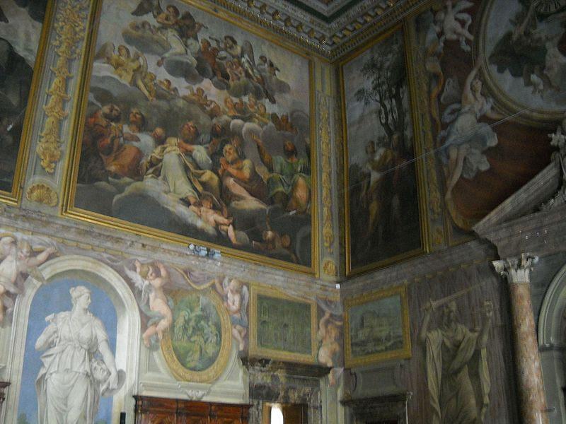 File:Wall decoration fragment - Sala dei Cento Giorni - Giorgio Vasari - 1547 - Palazzo della Cancelleria.jpg