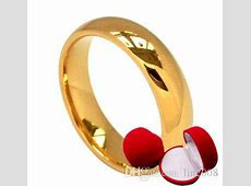 Glaze Yellow Wedding Ring For Men Women With Box,24k Gold Plated Marry Bride Party Jewelry