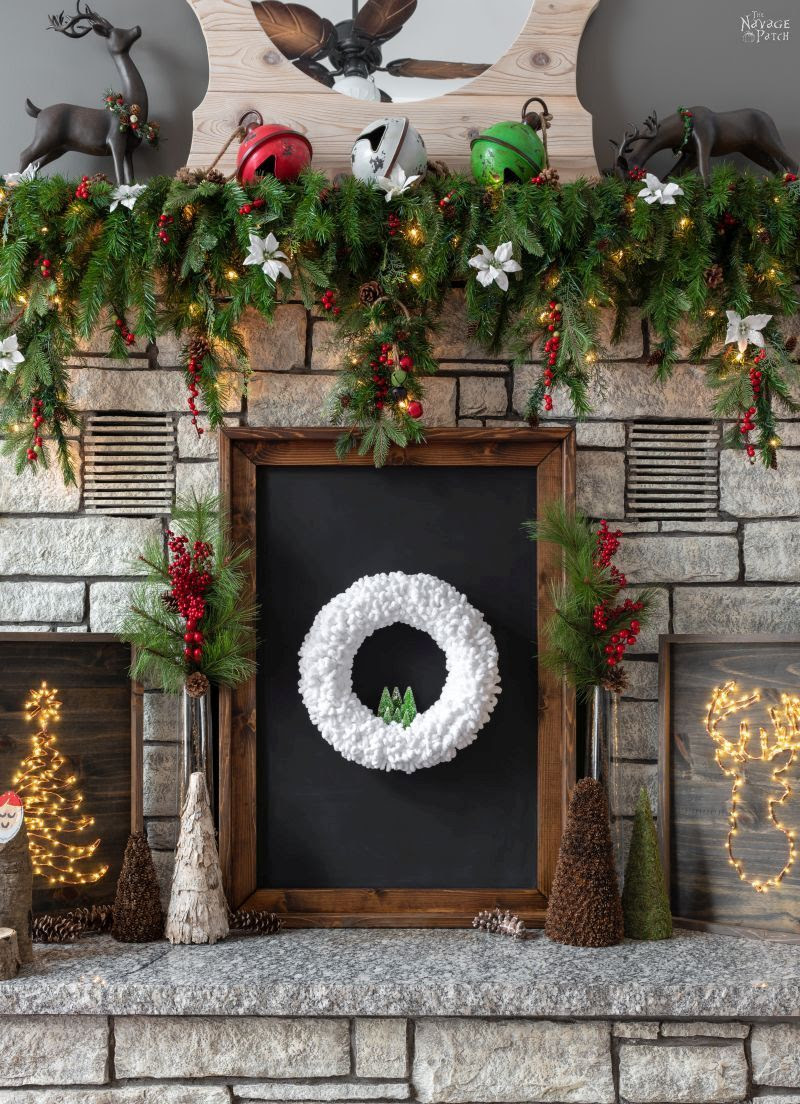 Loop Yarn Wreath An Easy Diy Winter Wreath The Navage Patch