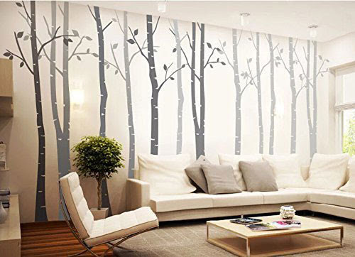 20  Beautiful Trees \u0026 Branches Vinyl Wall Decals \/ Wall Art Stickers For Bedroom \u0026 Living Room