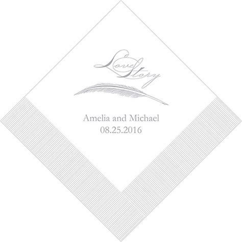Love Story Printed Napkins   Weddingstar