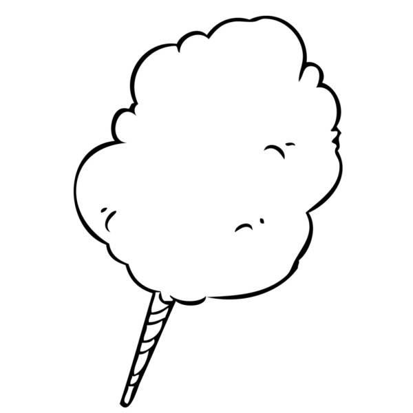Disegno Di Zucchero Filato Da Colorare Per Bambini