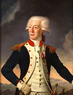 portrait of the rosy-cheeked young Lafayette painted for Jefferson, now at the Massachusetts Historical Society