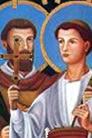 Marcelino y Pedro, Santos